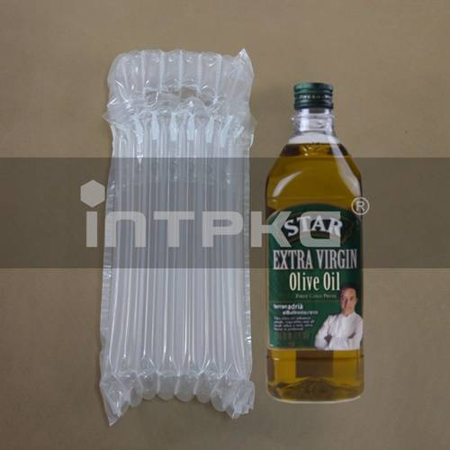 air filled plastic packaging for oil bottles