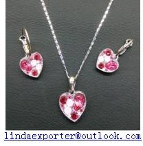 fashion alloy necklace & earring set