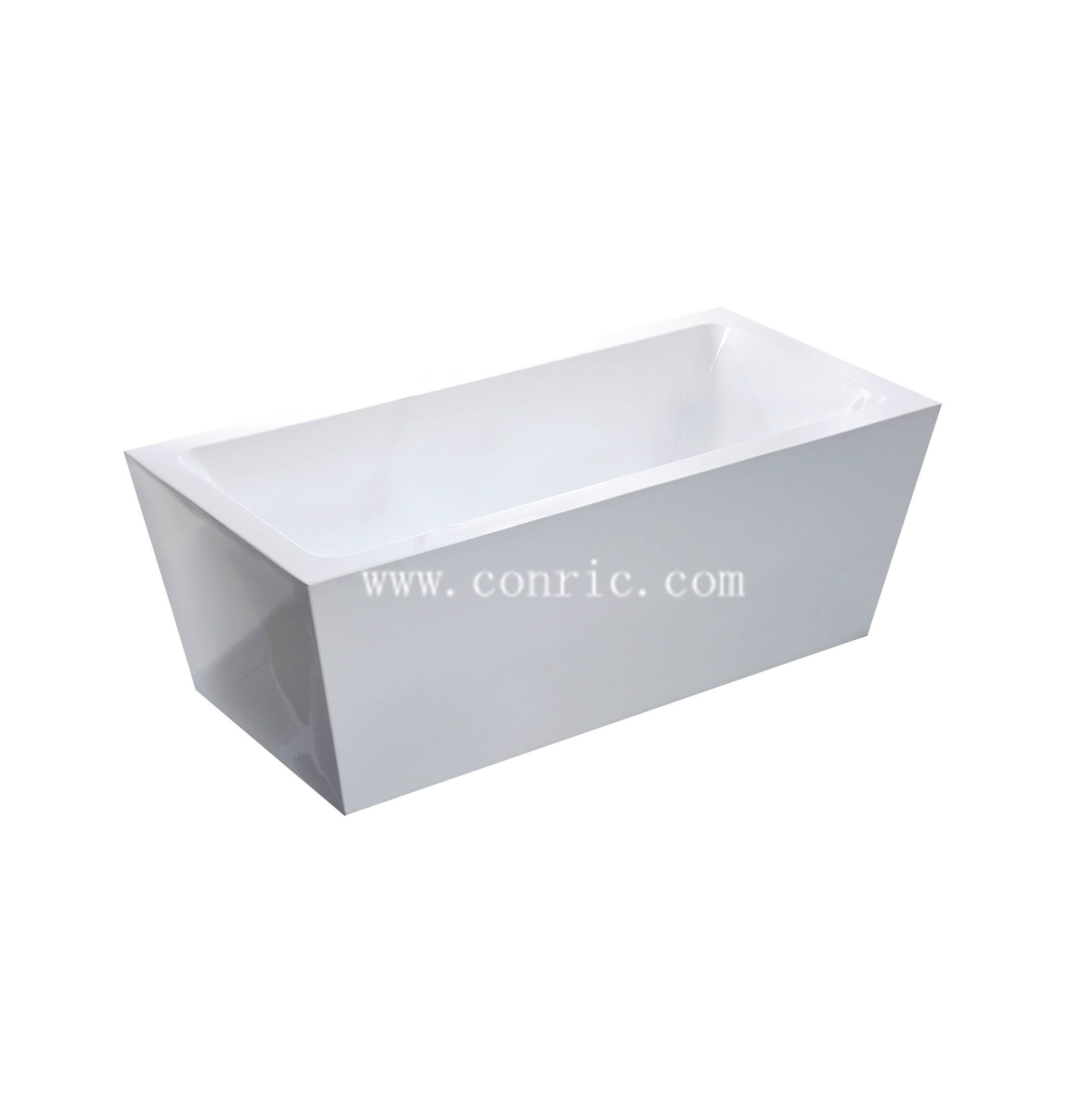 Chinese Rectangle Portable Acrylic Freestanding Bathtub