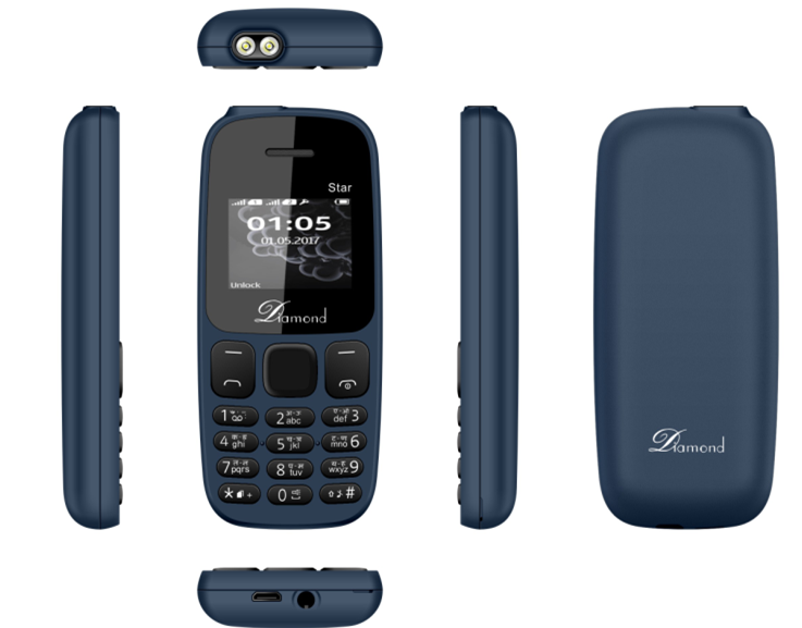 1.44inch feature phone with 0.08MP Camera 350mAh battery