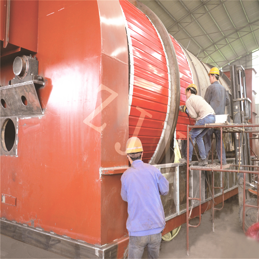 Rotary dryer equipment for wood particles