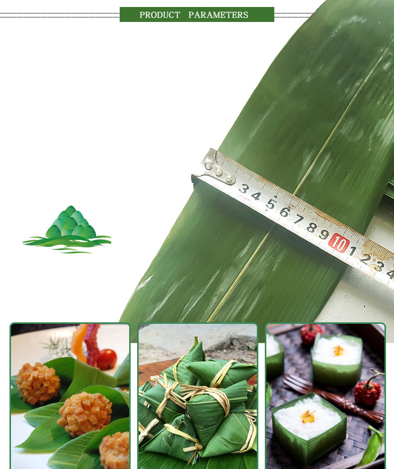Big size indocalamus leaves use for Zongzi