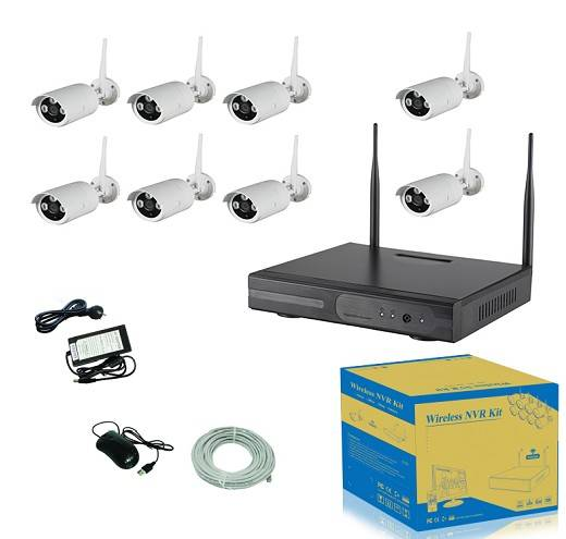 8Ch 960P Wireless NVR Kits