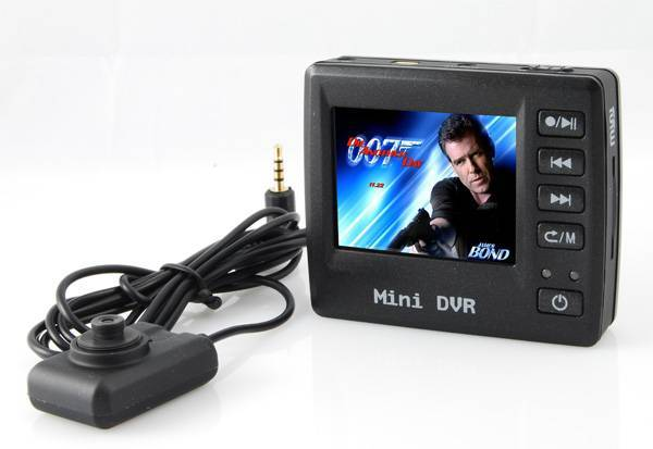 """Mini Button Spy Camera with 2.5"""" TFT LCD and AngelEye camera Motion Detection Law Enforcement"""