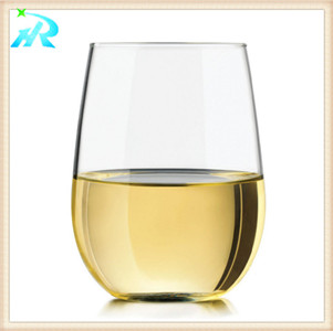 plastic double wall wine glass cup