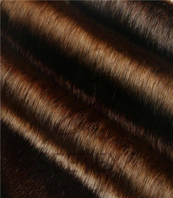 Steel brown mink faux fur fabric