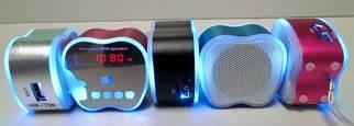 mini speaker with colorful LED light