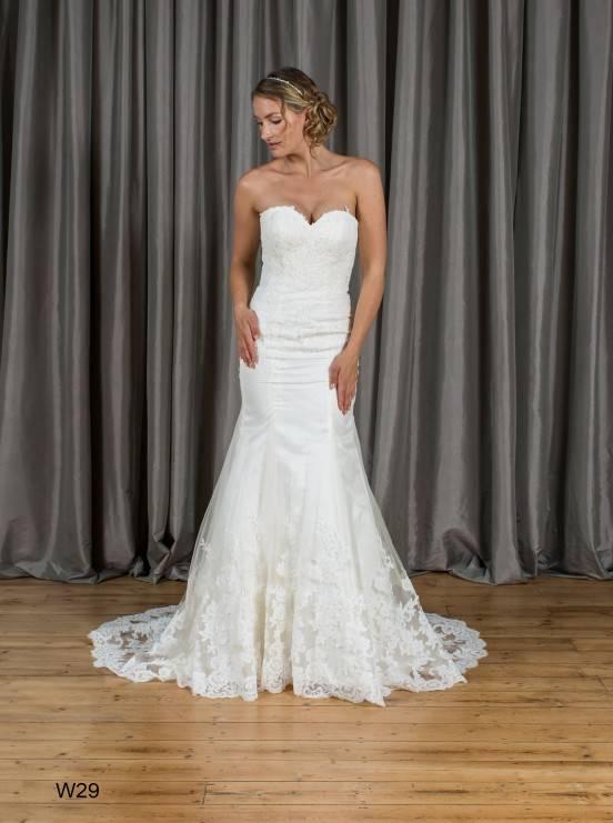 Mermaid & Trumpet Sweetheart Zipper Lace Wedding Dress W29