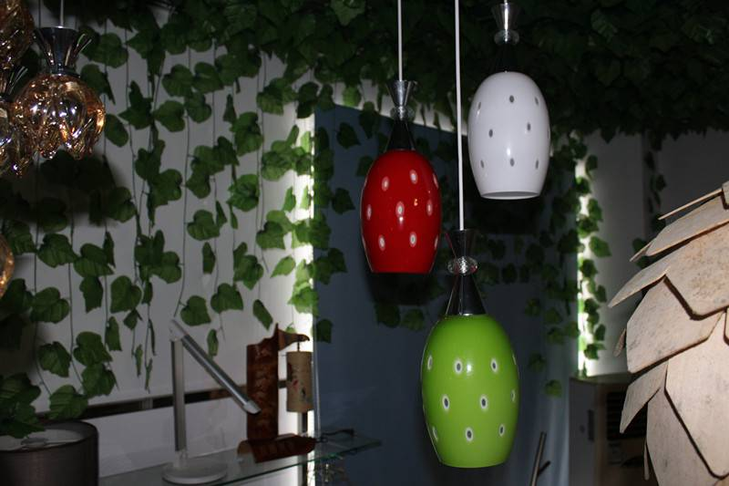 colorful pendant lamp with Led bulb