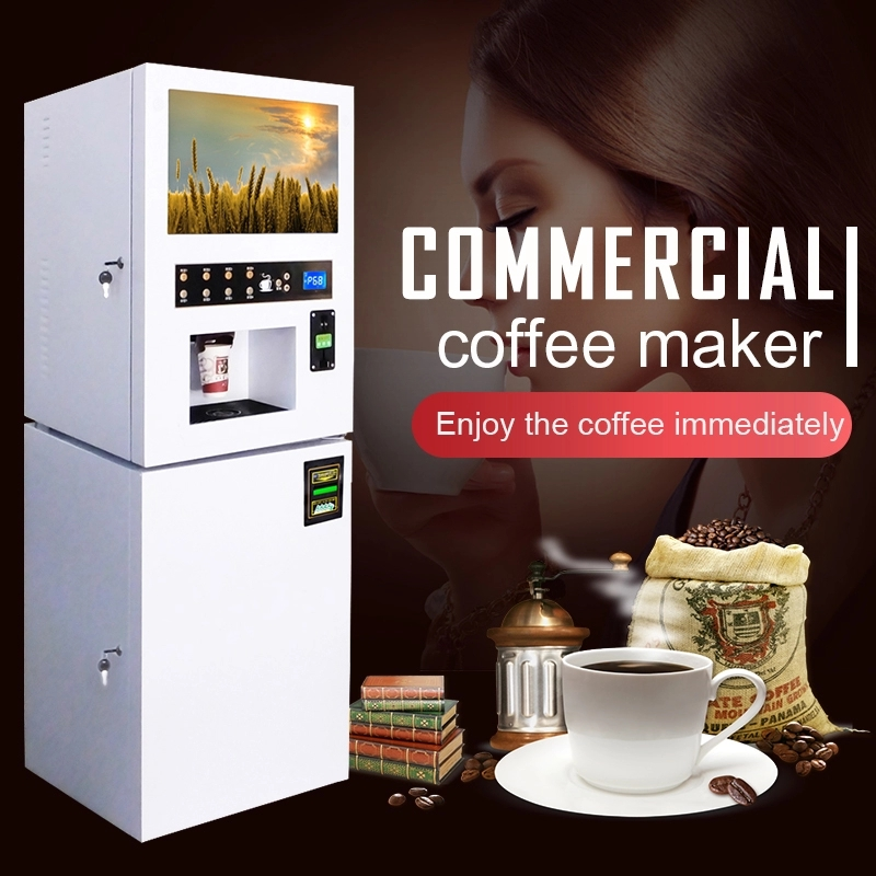 LCD coin and bill operated coffee vending machine,Coin Vending Machine, LCD Vending Machine, Bill Ve