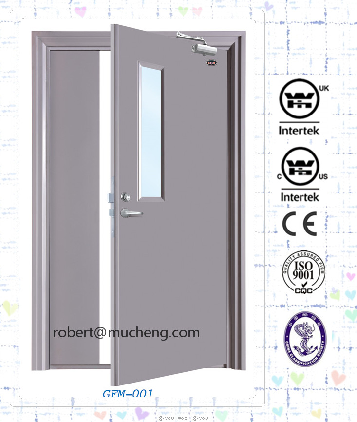 High quality Emergency fire escape steel rated steel door