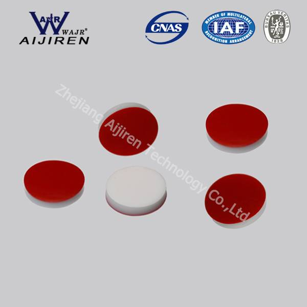 PTFE red/ Silicone white septa 8mm