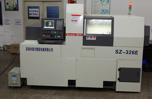 SZ-325E 32mm Dual spindles swiss type automatic lathe sliding head lathe