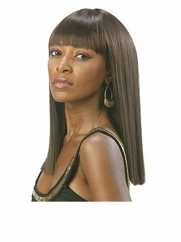 short straight black full lace human hair wigs with bangs