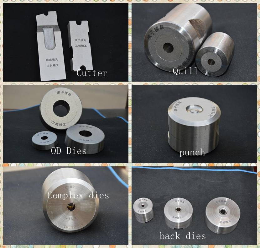 types of punches and dies axial roller cold forming dies