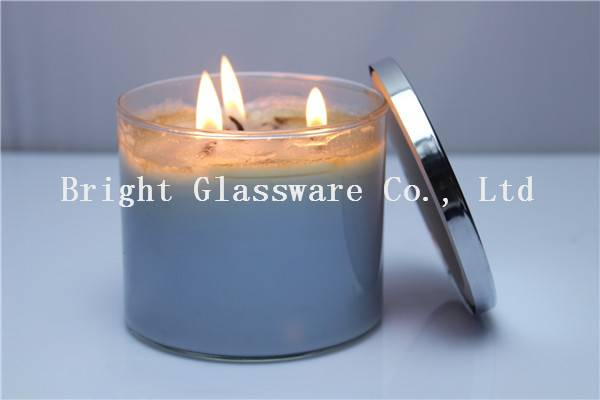Natural Scented Soy Wax Candle in Glass Candle Jar