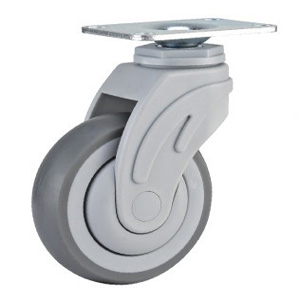 American Stylesigle Ball Bearing Plastic TPR Medical Caster