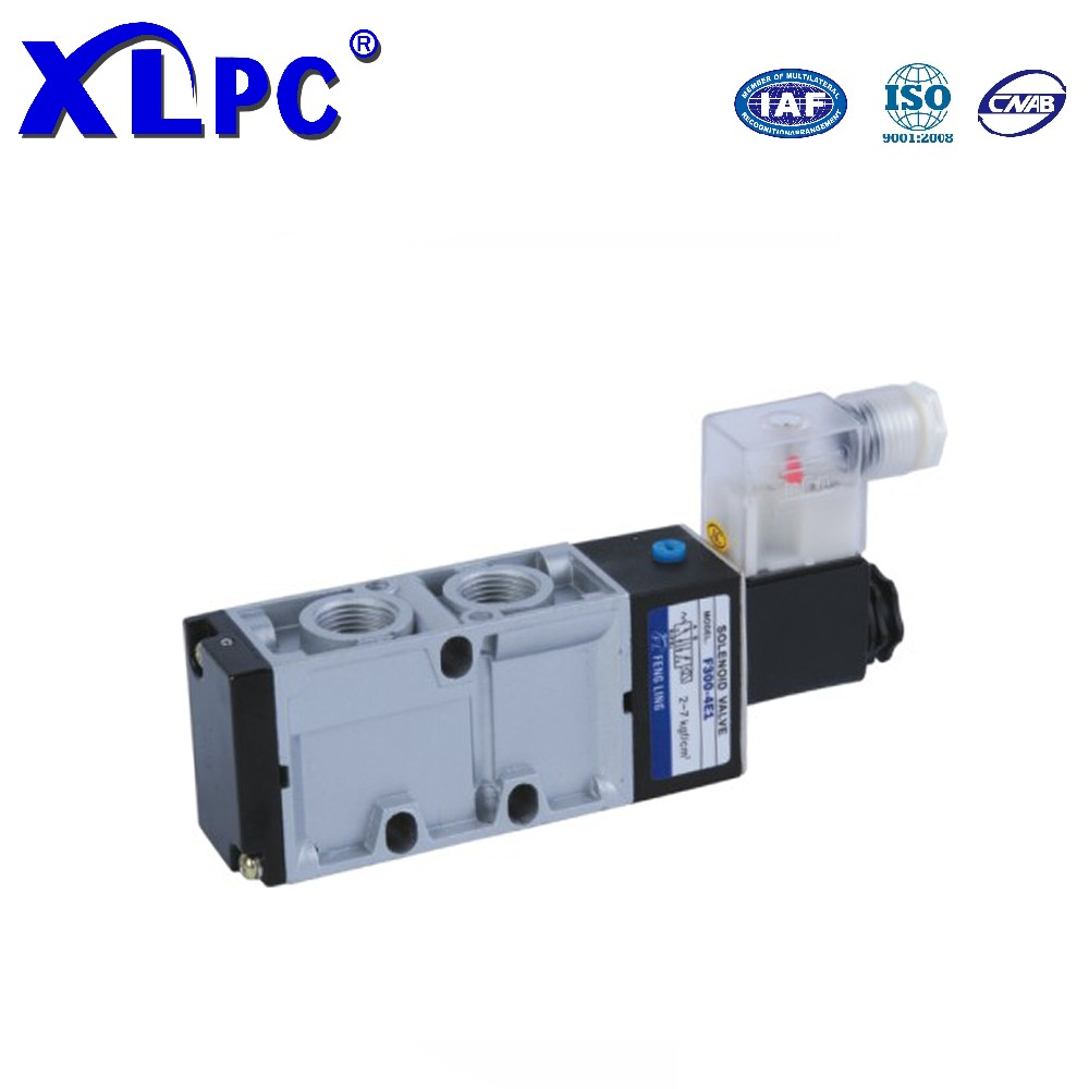 Mindman 5/2 way single double coil aluminium alloy die-casting type pneumatic solenoid valve