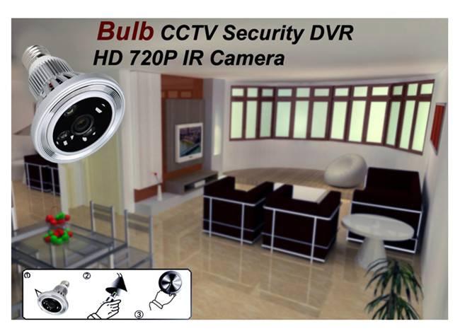 PIR Wifi Bulb Camera DVR P2P Remote Monitor