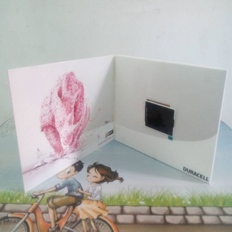 2.8 inch lcd vedio greeting cards/advertising promotion brochure