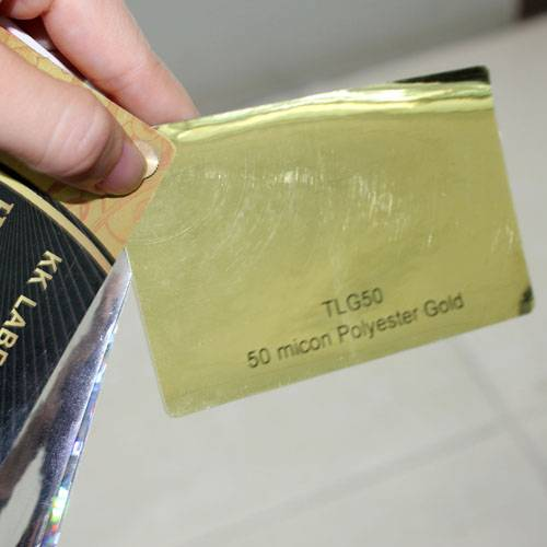 50micron Gold glossy polyester film