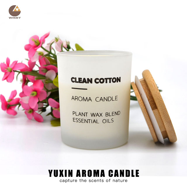 Free Sample Natural Scented Candle In Glass Jar With Wooden Lid