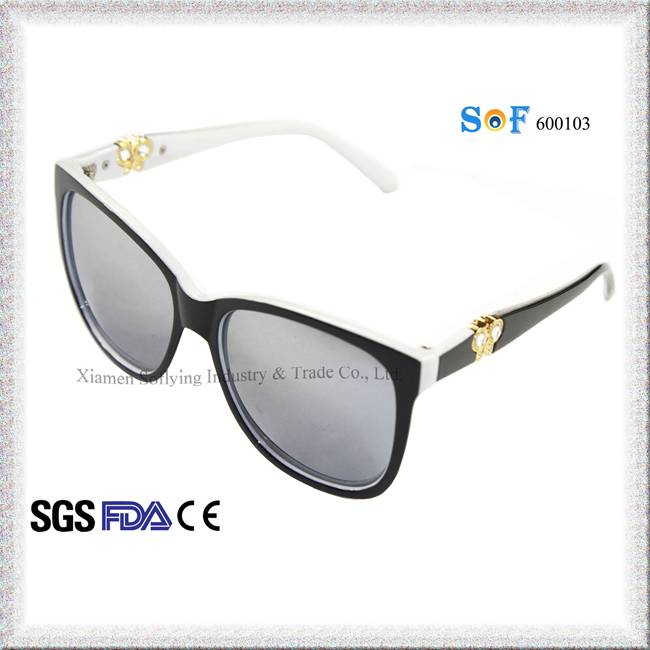 Italian Eyewear Fashion Polarized Black Sun Glasses for Lady w/ UV400