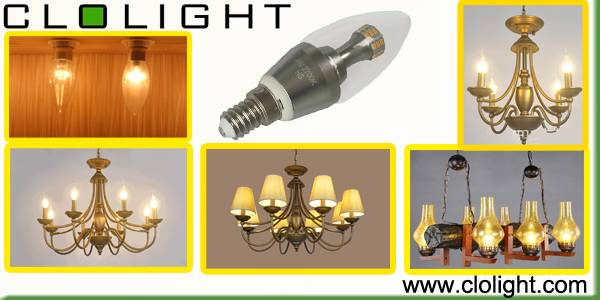 energy saving lamp 4W Led candle 360 degree CE RoHS approved
