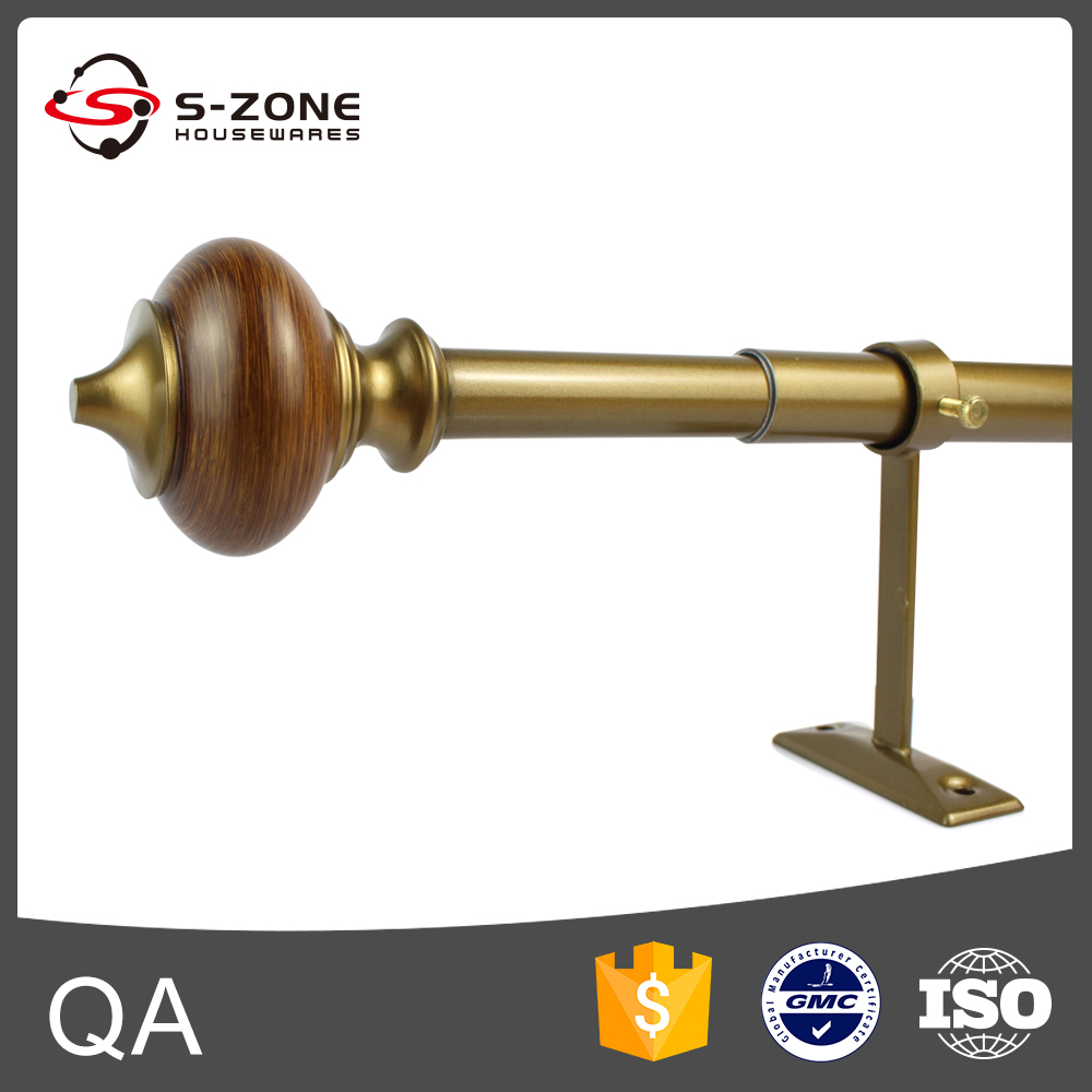 Tension iron curtain rod magnetic curtain rod