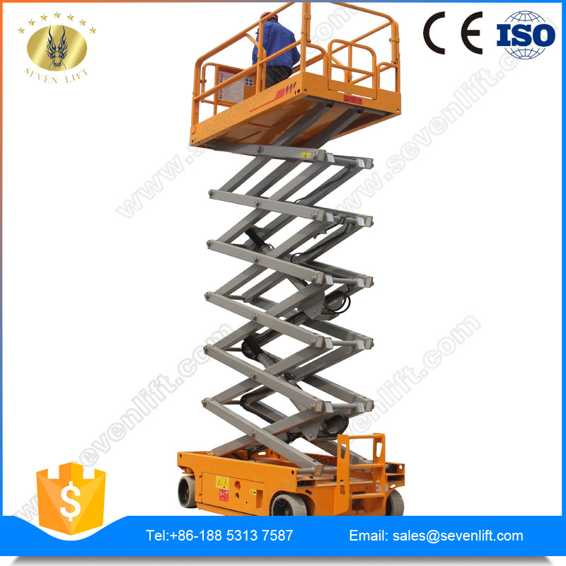 7LGTJZ Shandong SevenLift genie hydraulic self-propelled skyjack scissor lift