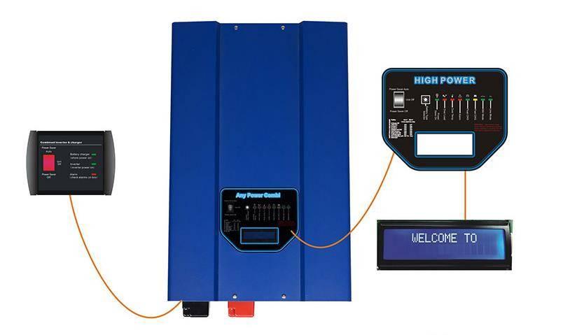 LCD inverter pure sine wave output power inverter with BTS HP inverter 1KW--12KW