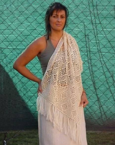 Ecological cotton shawl