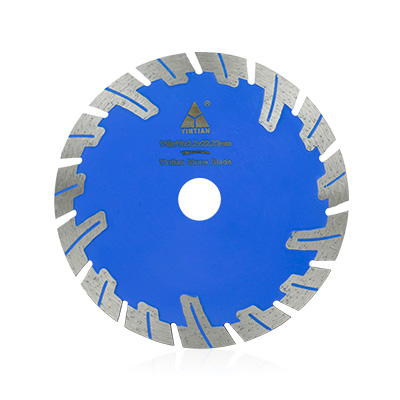 Hot Pressed Protective Teeth Diamond Saw Blade For Cutting