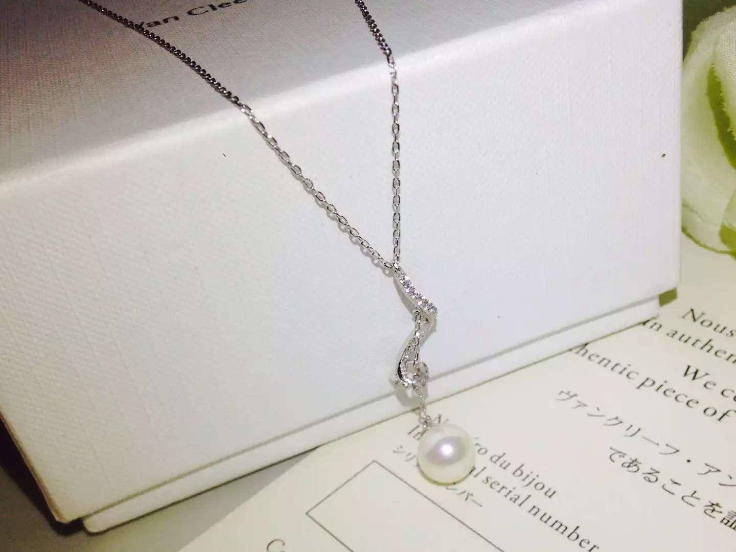 NEW ARRIVAL Neffly elaclusive CHA classic pearl necklace superior drafmanship Sterling 925 Silver wh