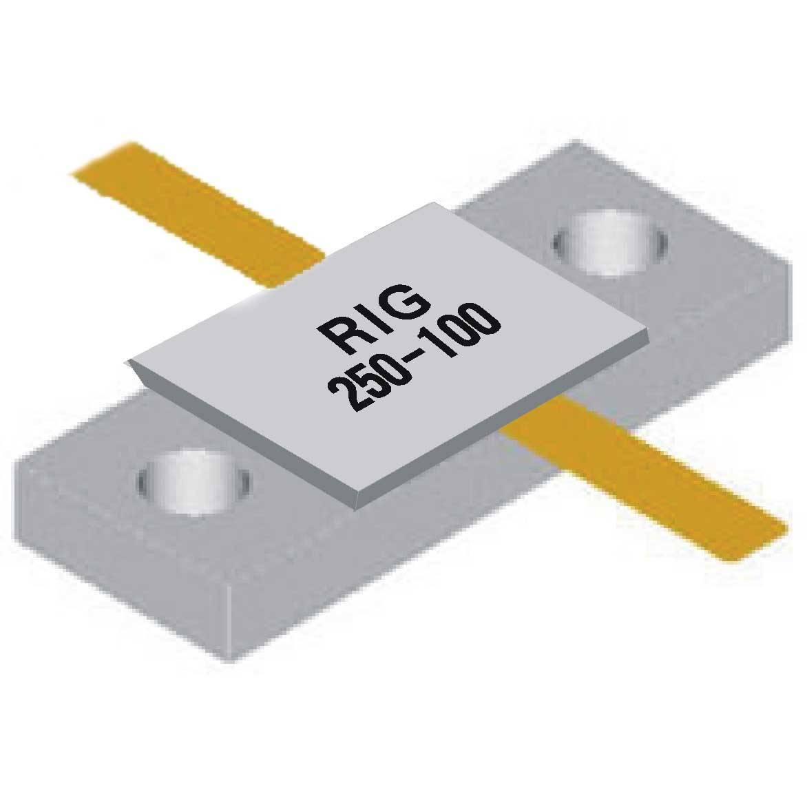 Rf resistors and high-power microstrip resistor (RIG02 250W - 100 European)