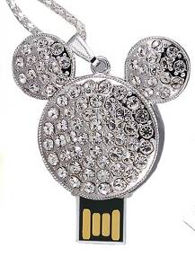 Fashion Mickey Jewelry USB Flash Drive for Wholesale