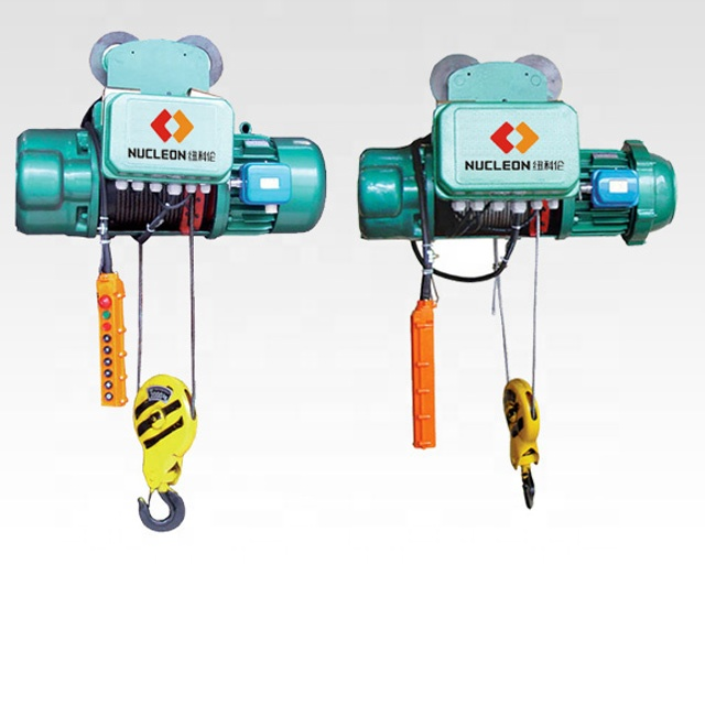 Nucleon factory single/double speed 1/2/3/5/10ton wire rope electric hoist with single girder crane
