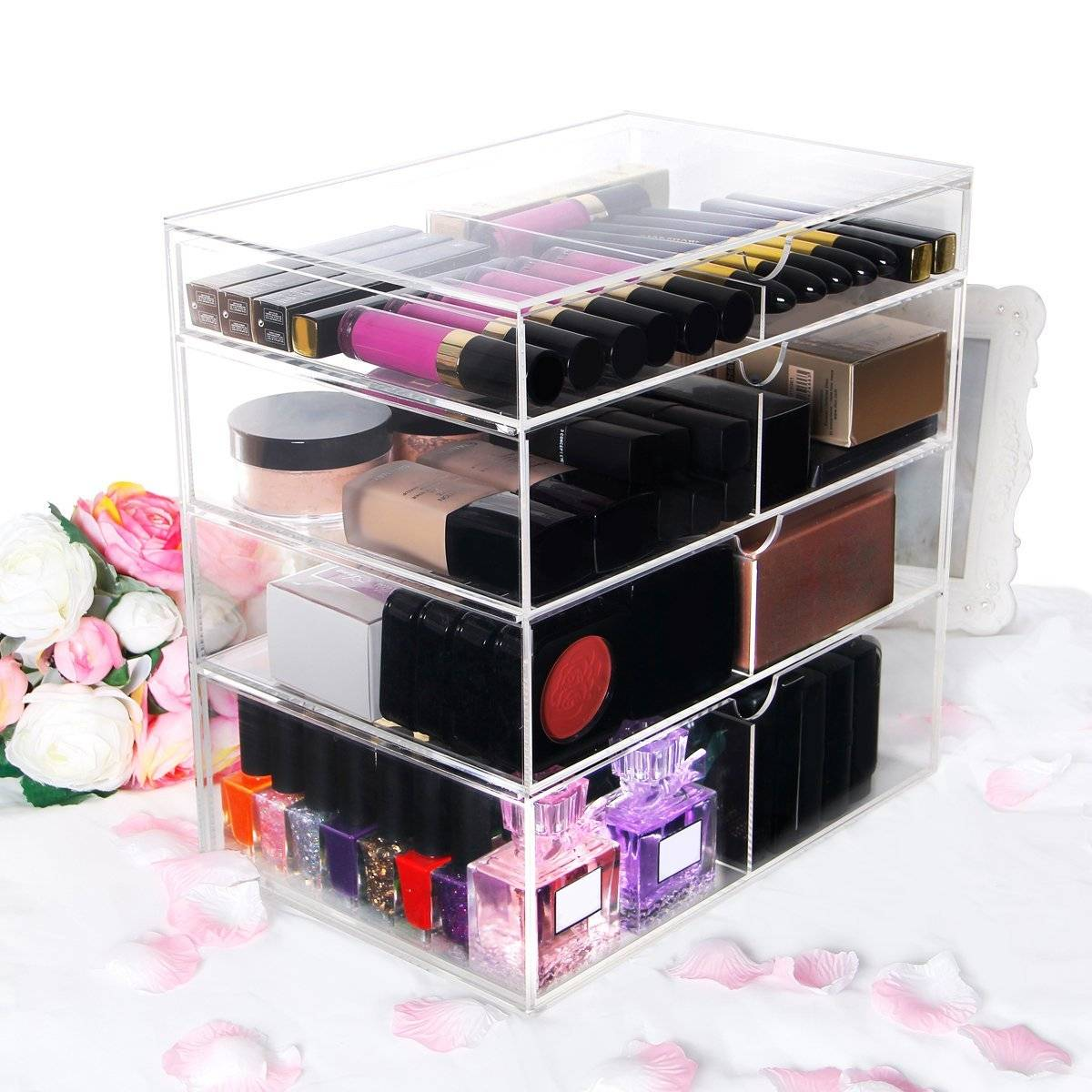 factory wholesale acrylic makeup organizer