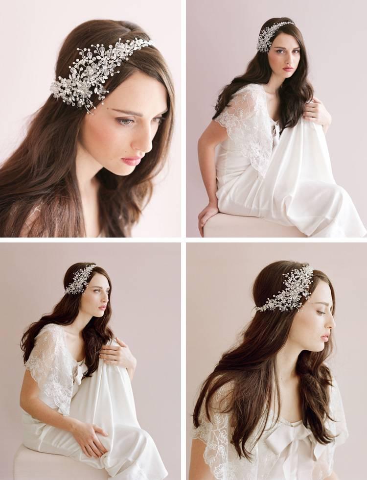 Crystal bride hairband Wedding dress shining headdress Luxurious women hair tiara