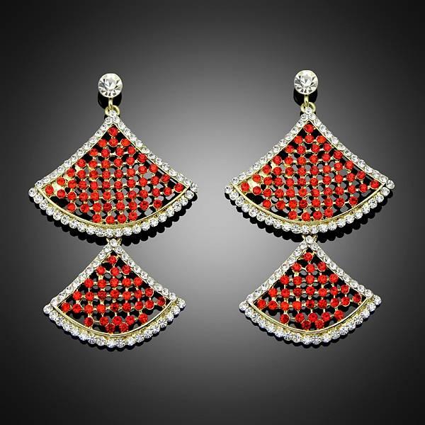 2014 New Fashion Stylish Red Rhinestone Crystal Dangle Earrings For Women/Party Charm Fashion Jewelr