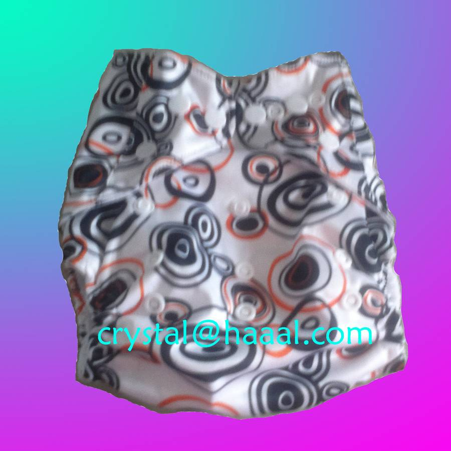 circles printed nappy cloth diaper
