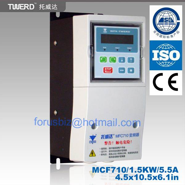 AC Variable frequency drive(MFC 710 series) for General Purpose 3x400V, 50/60HZ ,0.75-355KW with DTC