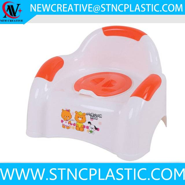 multi color plastic baby potty chair
