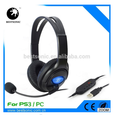 Stereo Gaming Headset Earphone with Mic ,noise canclling headband earphone for PS4
