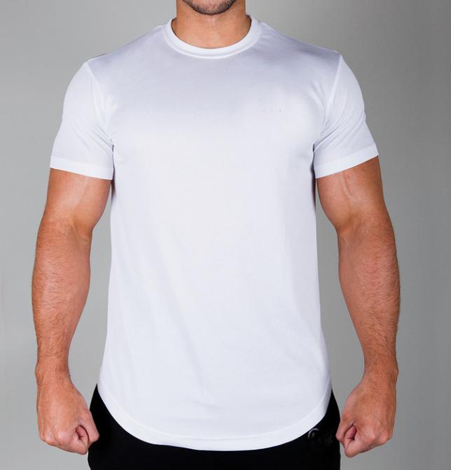Men's New Sportswear Fit Printed OEM Cotton Wihte T shirt