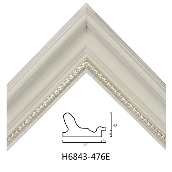 Quality Plastic Frame Moulding Wholesale Black White Color Not Embossed H6843