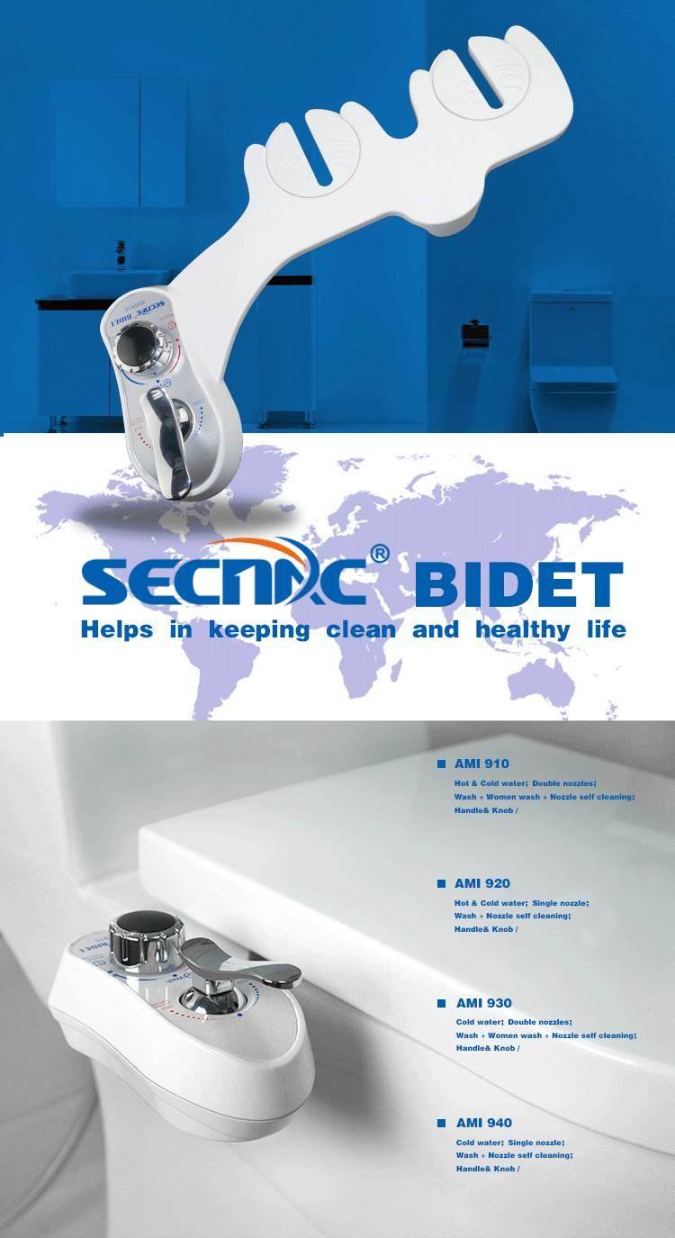 Non electric mechanical toilet bidet