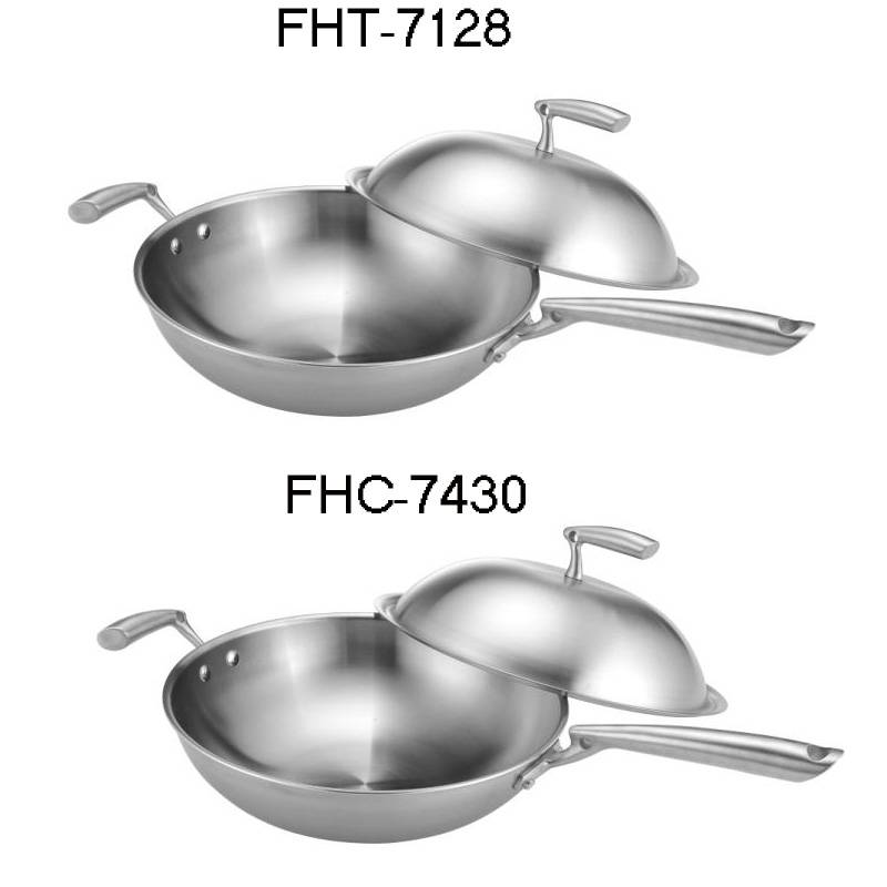 304Stainless steel pot-wok
