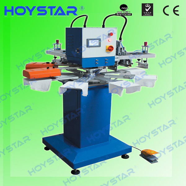 2color label rotary silk screen printing machine with drying