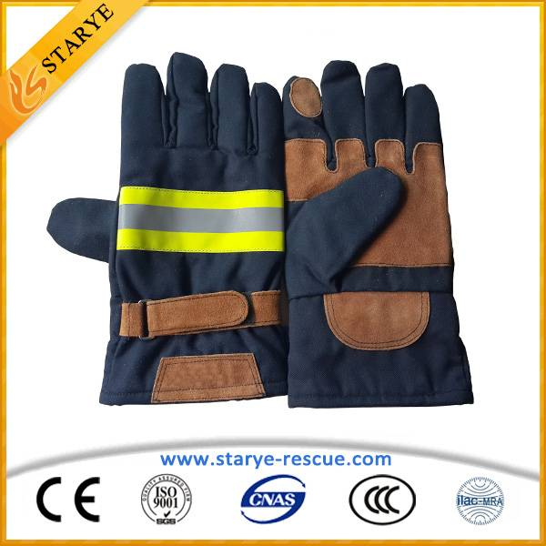 Hot sell High Temperature Aramid Resistance Fire Gloves